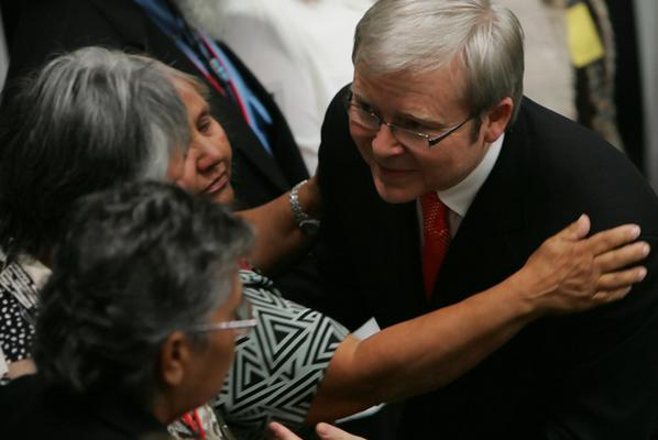 The Prime Minister Kevin Rudd in the Chamber after making his sorry speech.