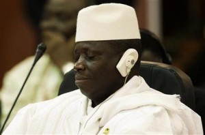 Gambia's Al Hadji Yahya Jammeh attends the plenary session of the Africa-South America Summit on Margarita Island