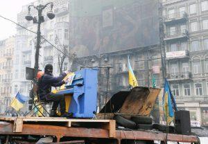 Anti-government protests in Ukraine.