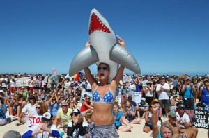 Demonstrators Protest Against WA Shark Culling Policy