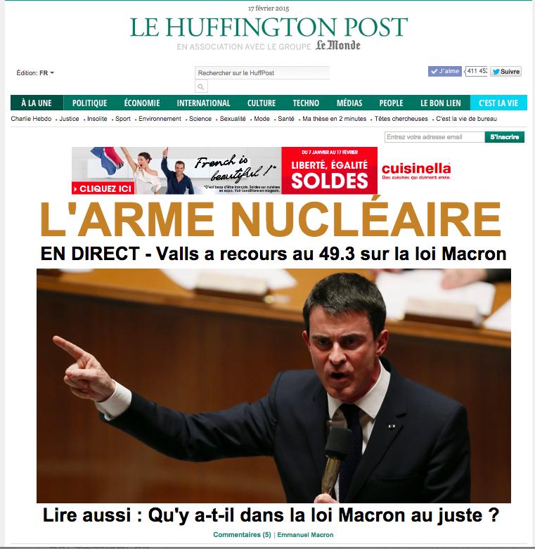 法蘭西Huffpost 頭條:核武器!