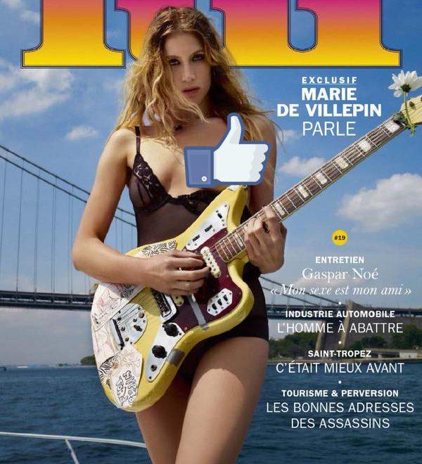 法前總理女兒 上空露乳上陣雜誌封面
