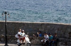 Greece Migrants And Tourists-1