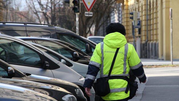 Parken  Parkraumüberwachung  graz   -  strafzettel