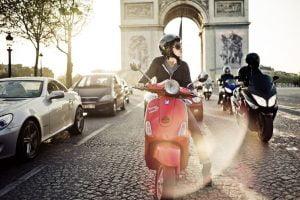 red cool scooter arch triumph paris HR