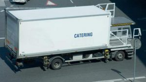 catering car on the airport