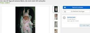 Screenshot/ Baby/ Ebay Kleinanzeigen