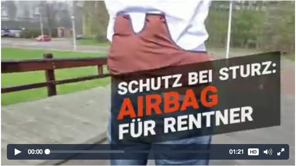 荷蘭發明安全氣袋衫 防止自己跌傷