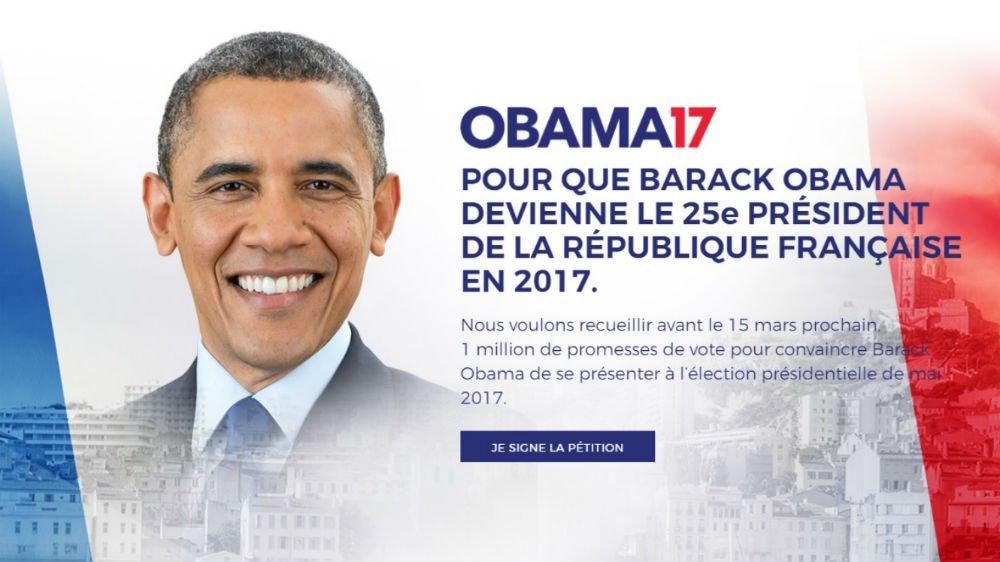 法國網民倡議:選奧巴馬做總統 開創第六共和