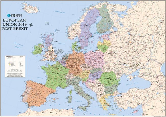 德國準備英國脫歐及蘇獨後歐洲地圖