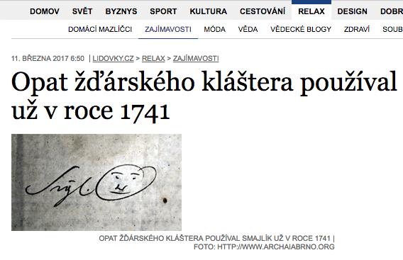 捷克發現最早 Emoji 來自1741年