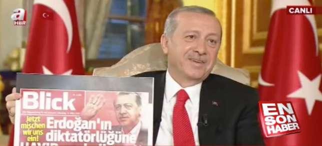 突厥總統不滿瑞士報紙稱呼佢獨裁者 電視公開批判