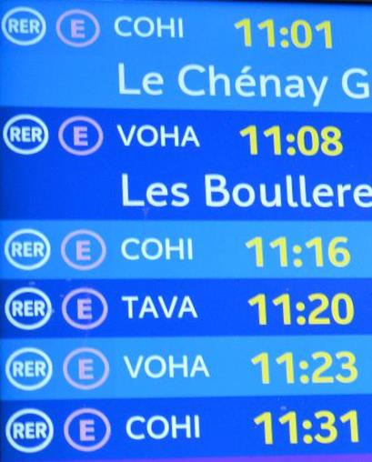 巴黎區域快線四字母代碼有玄機?