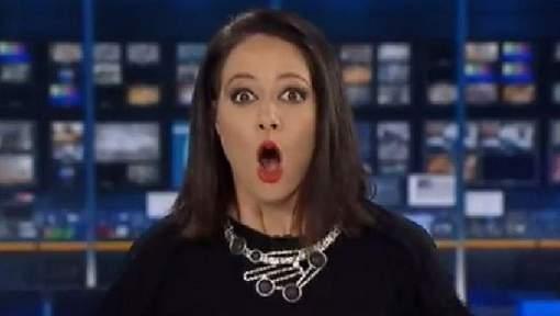 澳洲女主播被發現直播玩唇膏 驚嚇O嘴