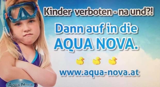 奧地利泳池廣告 用兒童來做合家歡題材惹公關災難?
