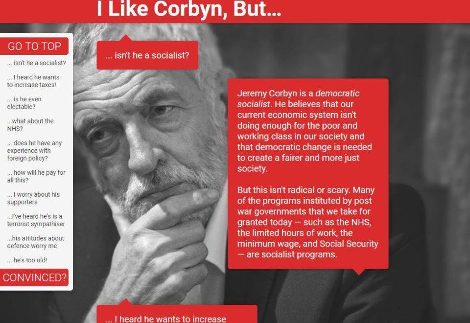 推銷工黨領袖網站被英國首相恥笑 迅速被404?