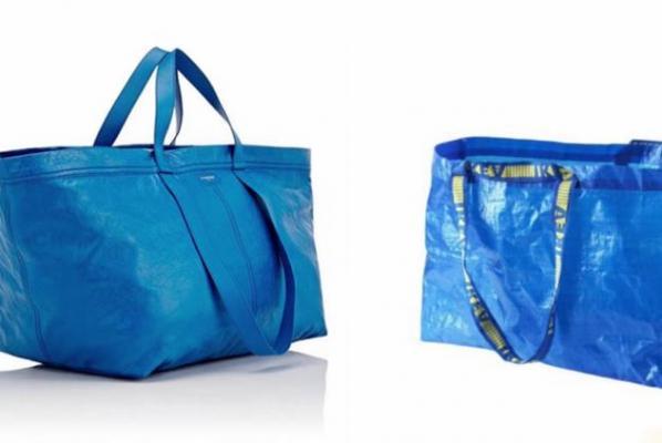 姨媽家俬藍色購物袋類似皮包 竟然賣2千美金