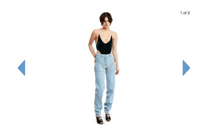 時裝界離奇新作:露界長短牛仔褲?