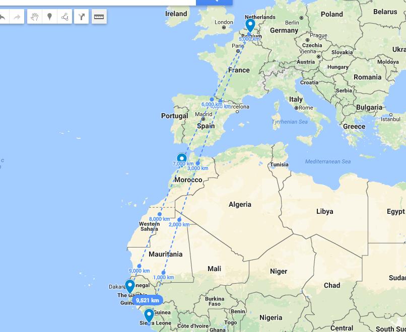 BBC 記者發現:非洲去非洲最快嘅航班 竟然係經過比利時?