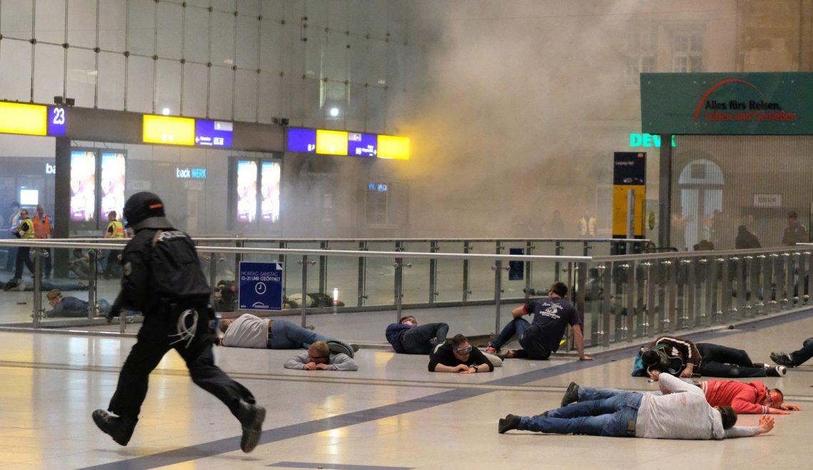 德國反恐演習爆炸槍擊齊曬 傷者都要200警察專門扮