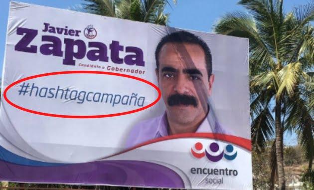 墨西哥候選人海報無改預設hashtag 錯有錯著
