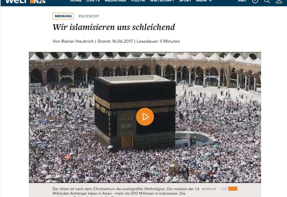 德國評論超譯:社會退讓就係伊斯蘭化