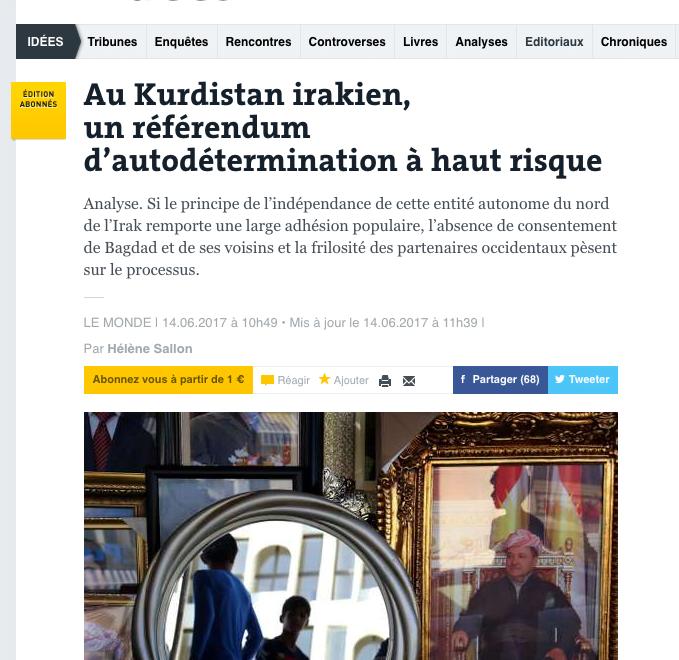 法評超譯:庫德族獨立真係有希望?