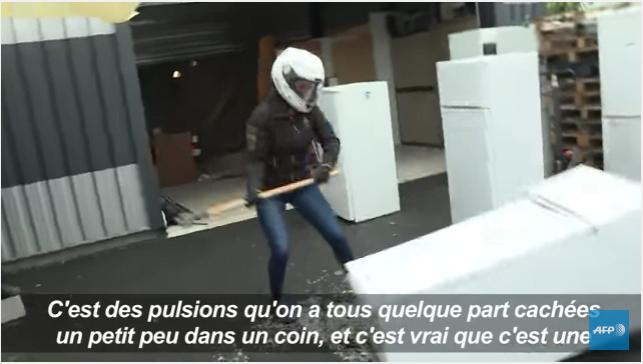 法國最新減壓方法:打爛冰櫃