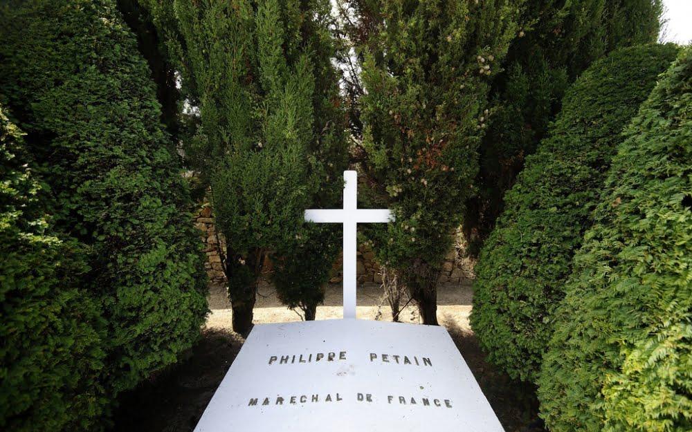 二戰法國傀儡政權首長貝當墳墓再被破壞