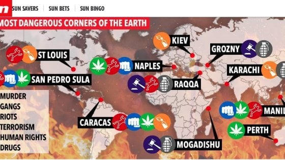 拿玻里被列恐怖城市 義大利大使館抗議到太陽報改post?