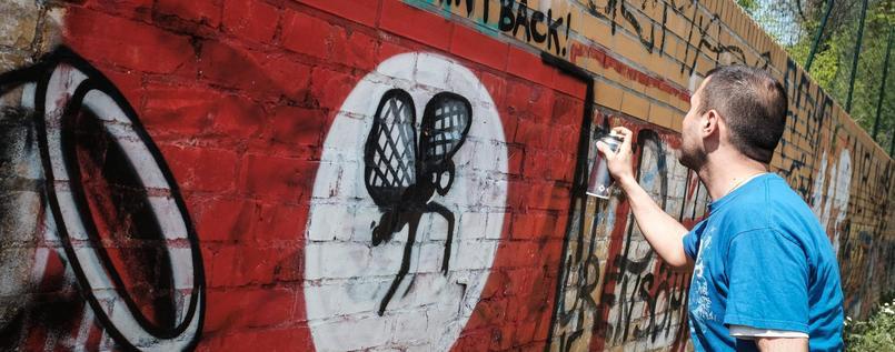 柏林NGO 將納粹符號塗鴉轉成歡樂圖像