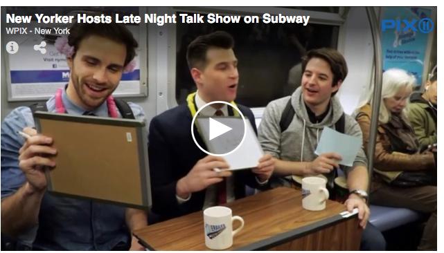 紐約地鐵深夜出現就地開台 Talk show