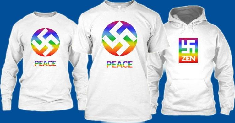 美帝公司放納粹標誌上彩虹旗 惹公憤