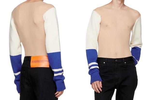 CK 古怪新時裝:齋袖羊毛冷衫 等型男曬胸肌 曬六夠?