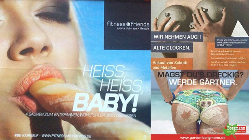 德國健身房疑似口交廣告被女權團體評為年度最性別歧視
