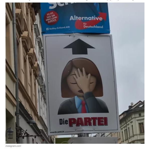 德國惡搞「政黨」 海報超玩得:粗口橫飛 玩emoji 玩對家海報