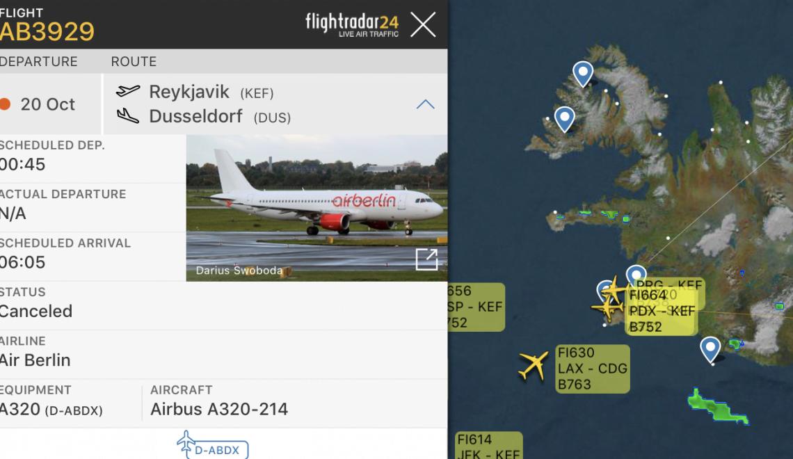 柏林航空欠費 飛機係冰島機場被扣 後續航班全取消