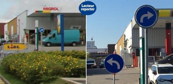 瑞士離奇路口標示向左走向右走