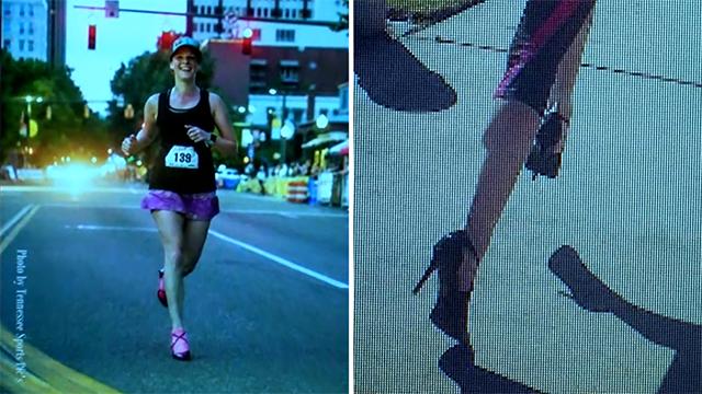 美帝女破高踭鞋跑馬拉松世界紀錄?