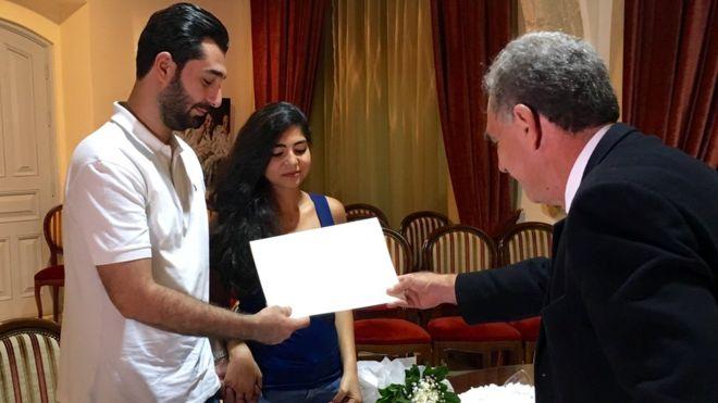 黎巴嫩政局混亂 婚姻都好亂 跨教情侶乾脆去基堤結婚