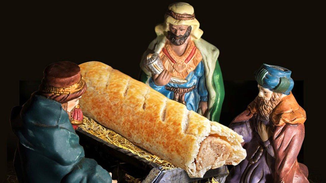 連鎖餅舖將腸肉批 塞入聖誕景象 被圍攻需道歉