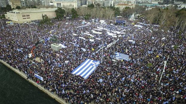 反對馬其頓叫馬其頓 希臘城市30萬人示威