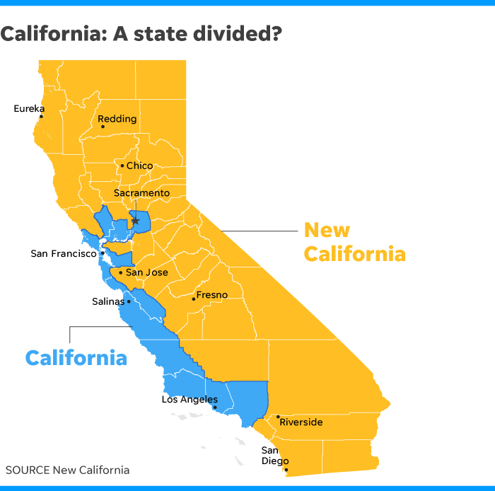 加州鄉郊郡覺得「根本無法管治」要求脫離成為美帝第51州「新加州」?
