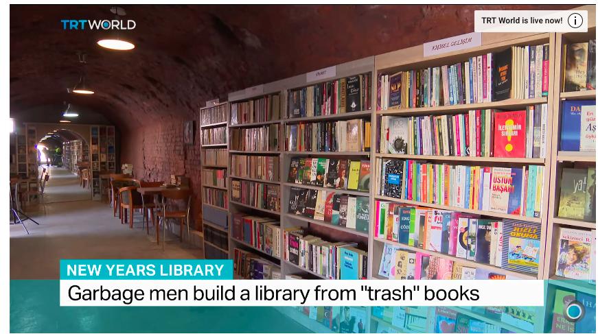 突厥垃圾站執書執到起到間新圖書館出黎 法文書都有