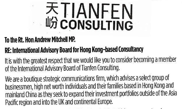 英電視台最新偵查報導:3名前保守黨大臣差啲上鉤 企圖接受契丹公司顧問合約 每年免費遊香港