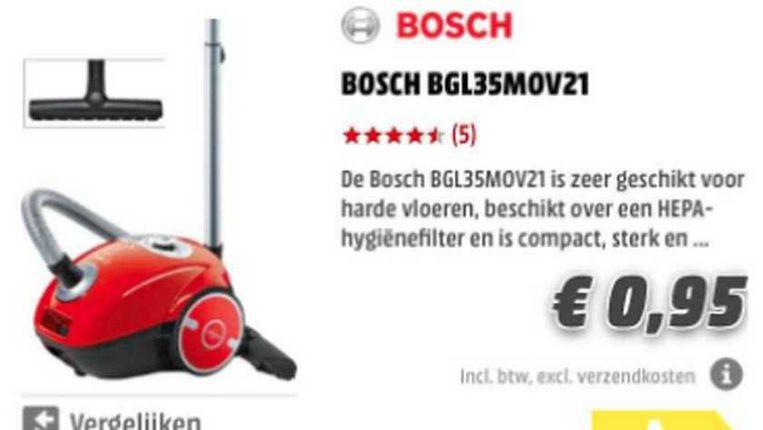 荷蘭MediaMarkt網站出錯 一度全店所有物品每件0,95