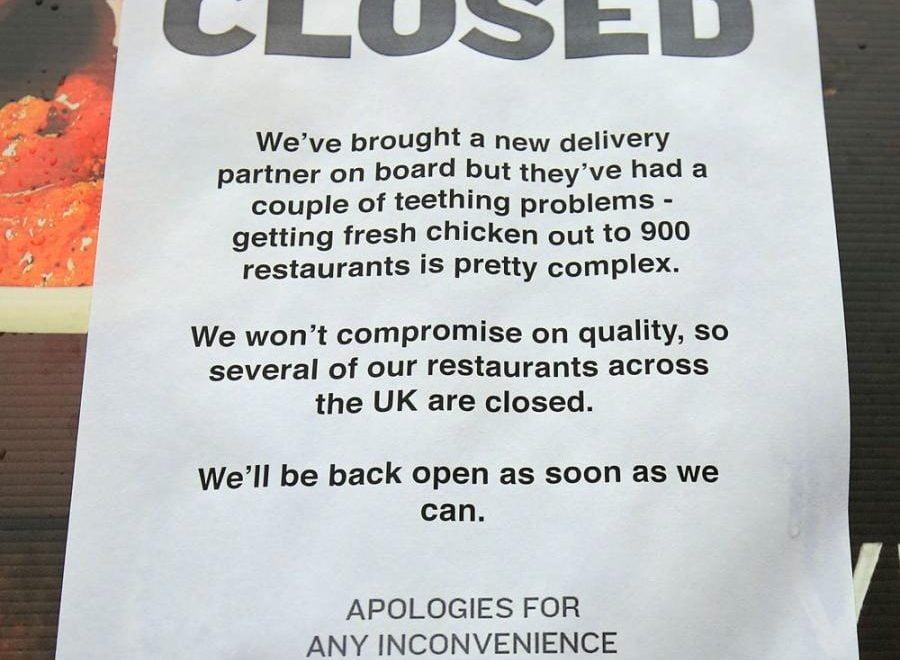 倫敦KFC無雞要暫停營業 市民竟然向國會議員求助 甚至報警