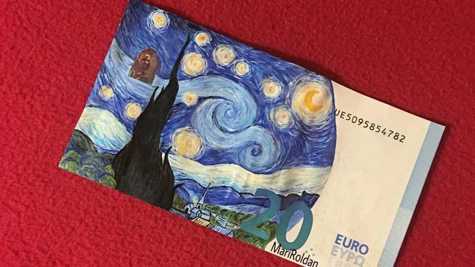 西班牙 IG 畫家 鈔票當畫紙 浮世繪都識畫?