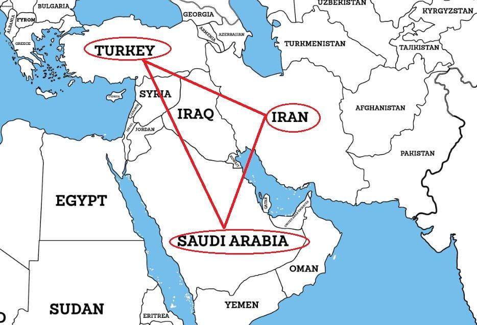 沙地王儲表示歐洲要小心中東嘅邪惡三角洲 但佢只列舉兩個國家