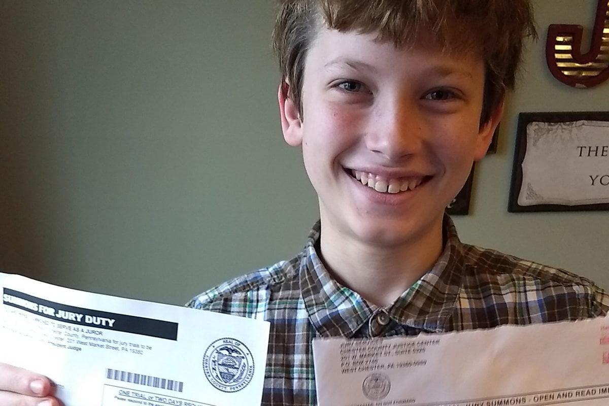 美國離奇法庭 傳召11歲男童做陪審員?